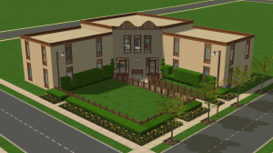 The Sims 2 Pleasantview Retirement Home Community Lot Download