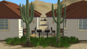 Barbecue Area of the Sims 2 Strangetown Arms Apartments by Pleasant Sims
