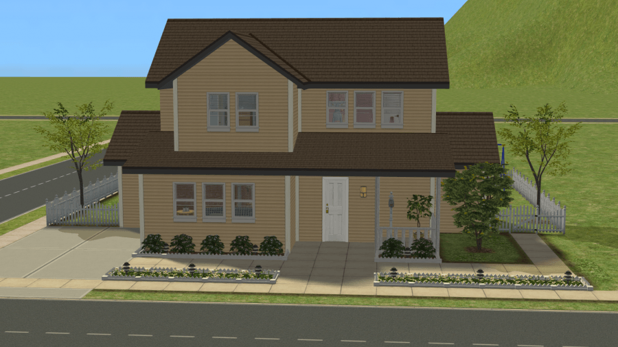 Sims 2 Orphanage House - Residential Lot Download - Built by Pleasant Sims - Room for 5 Children and an Adult Caretaker