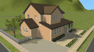 Left Side Driveway - Sims 2 Orphanage House - Sims 2