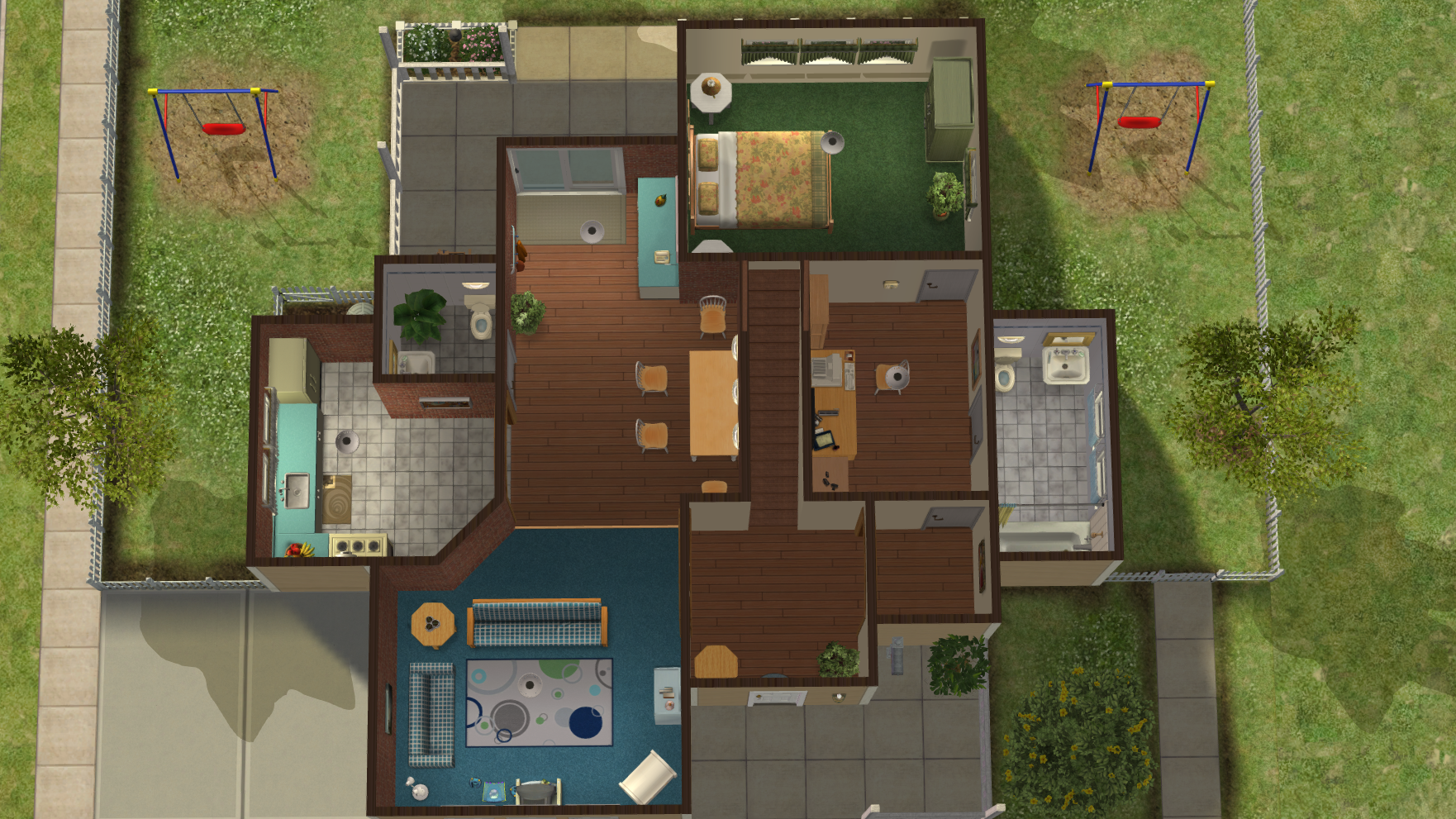 The Sims 2 Orphanage House for Pleasantview - Bottom Floor Inside