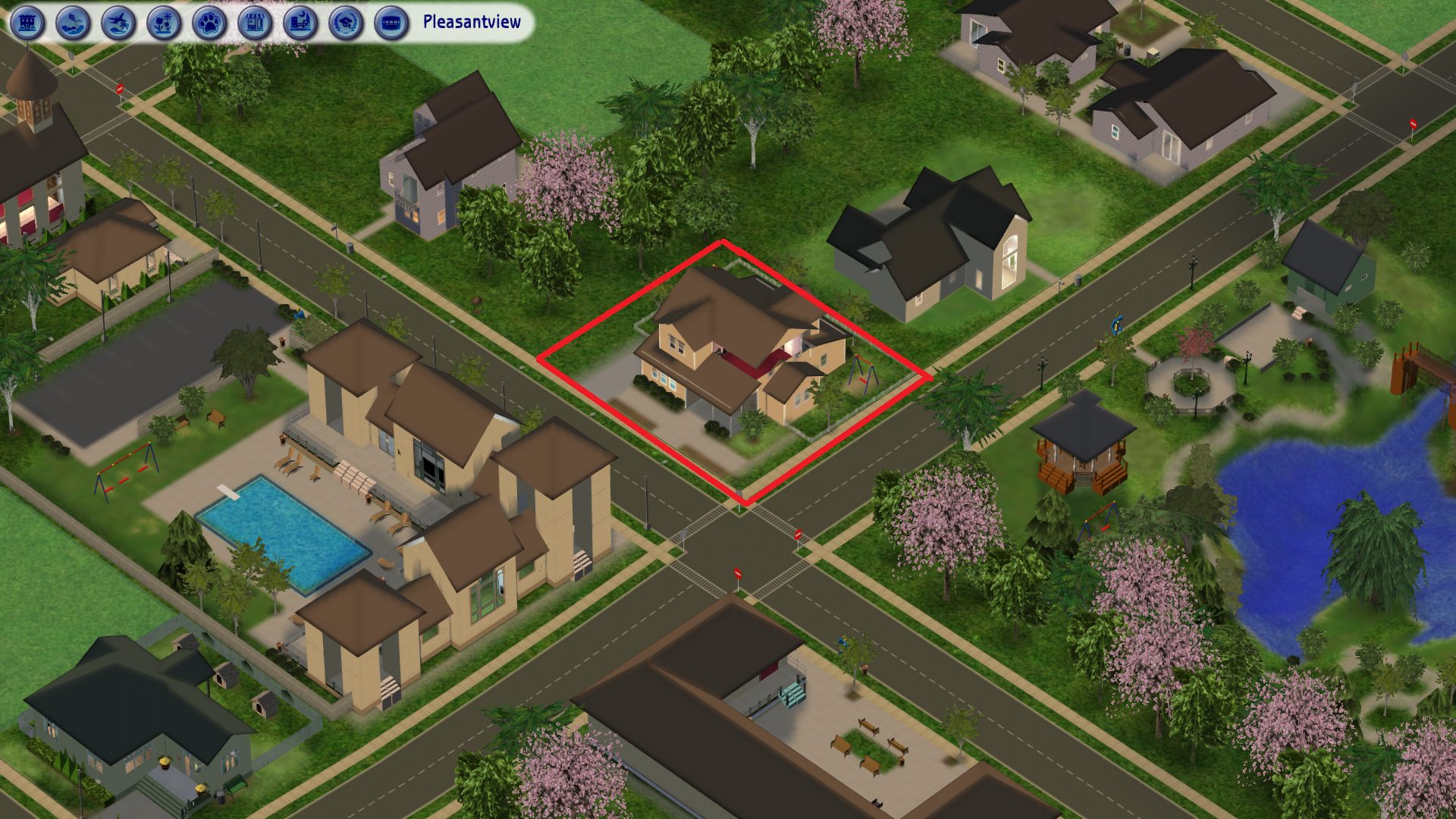 Sims 2 Orphanage House Placement in Pleasantview