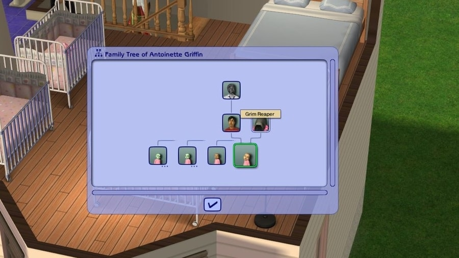 Grim Reaper in Family Tree - Sim s 2