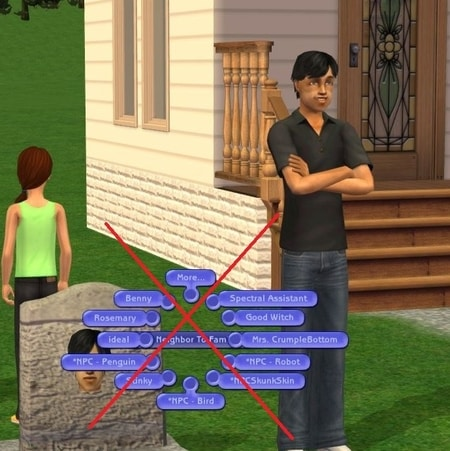 List of unsafe Sims 2