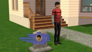 Sims 2 Make Friendly Tombstone L and D