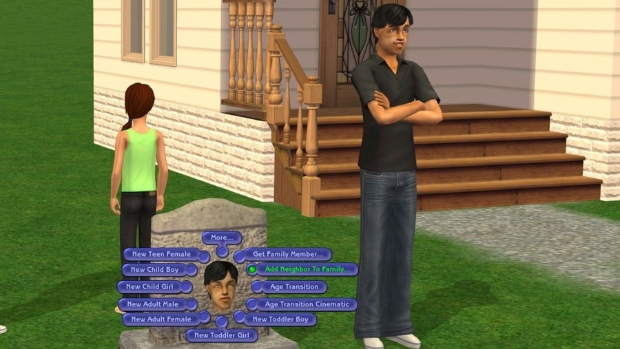 Sims 2 Tombstone L and D - Add Neighbor to Family