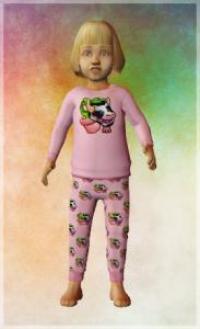 The Sims 2 Toddler PJ CC