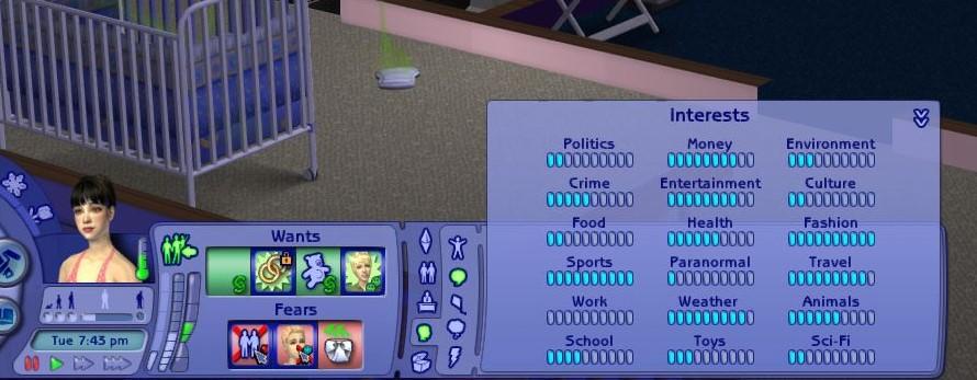 Sims 2 Interest Panel