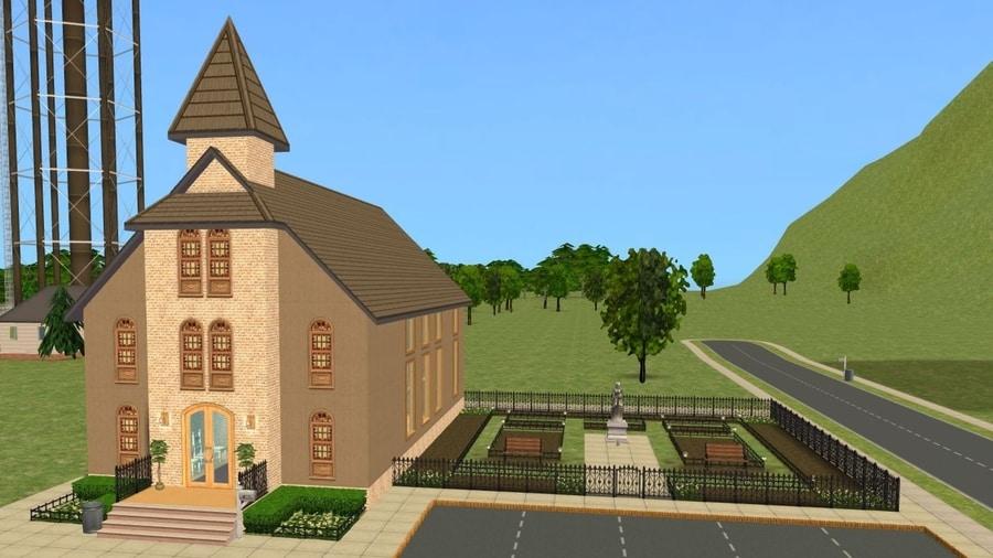 Sims 2 Pleasantview Church Cemetery