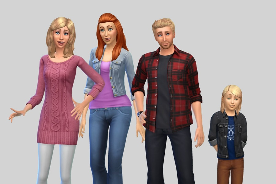 Sims 4 Broke Family