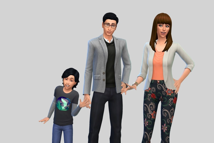 Sims 4 Goth Family 2
