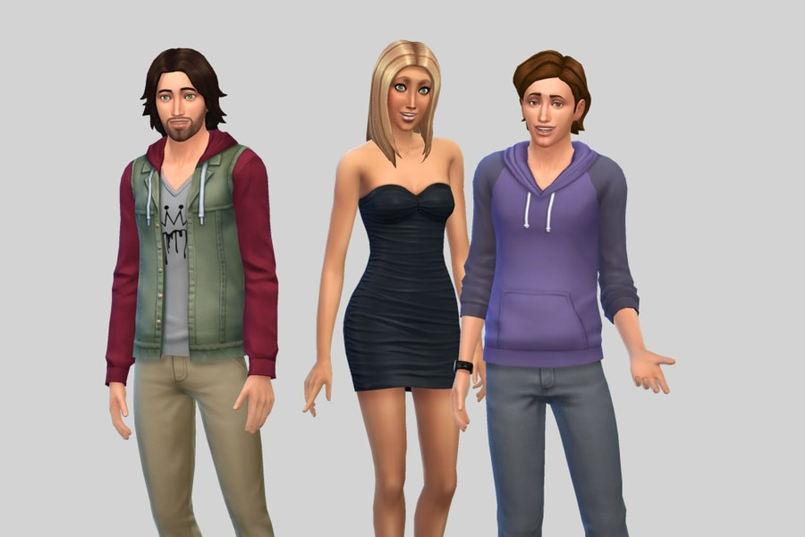 Sims 4 Goth Family