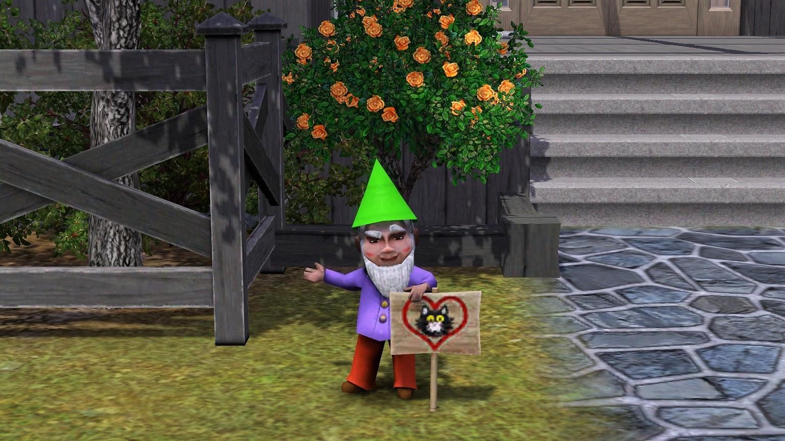 Sims 3 Feline Stray Gnome