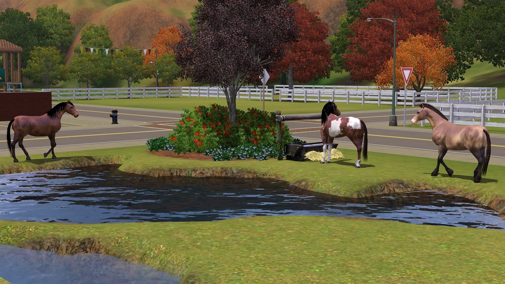 Sims 3 Group of Wild Horses