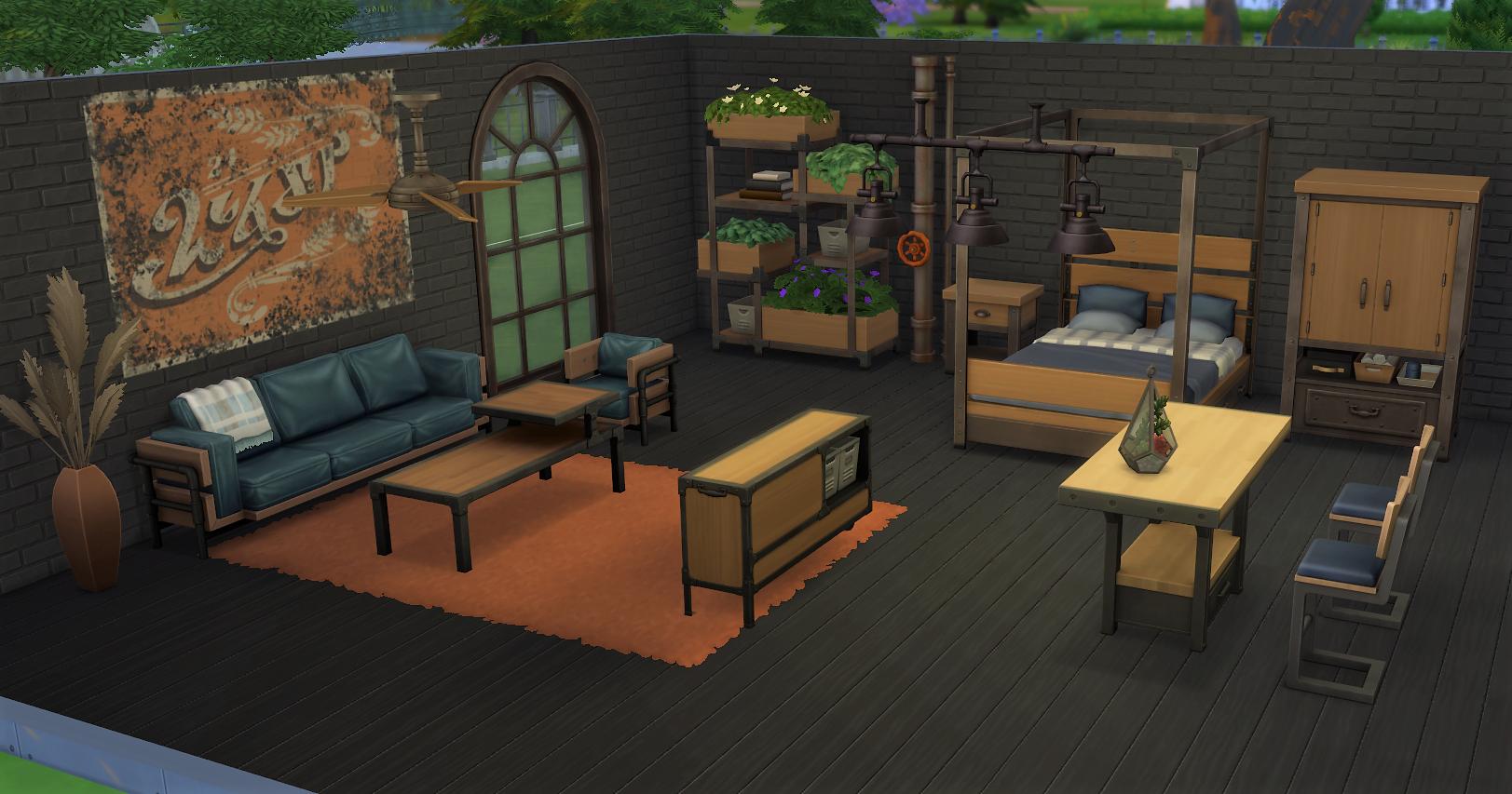 Sims 4 Industrial Loft Kit (2)
