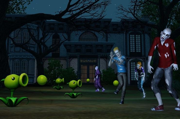 Sims 3 Plants vs Zombies Pea Shooter